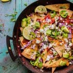 Top down chilaquiles rojos