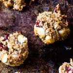 White Chocolate Chip Cranberry Breakfast Cookies. A quick and healthy weight watchers breakfast for on the go.