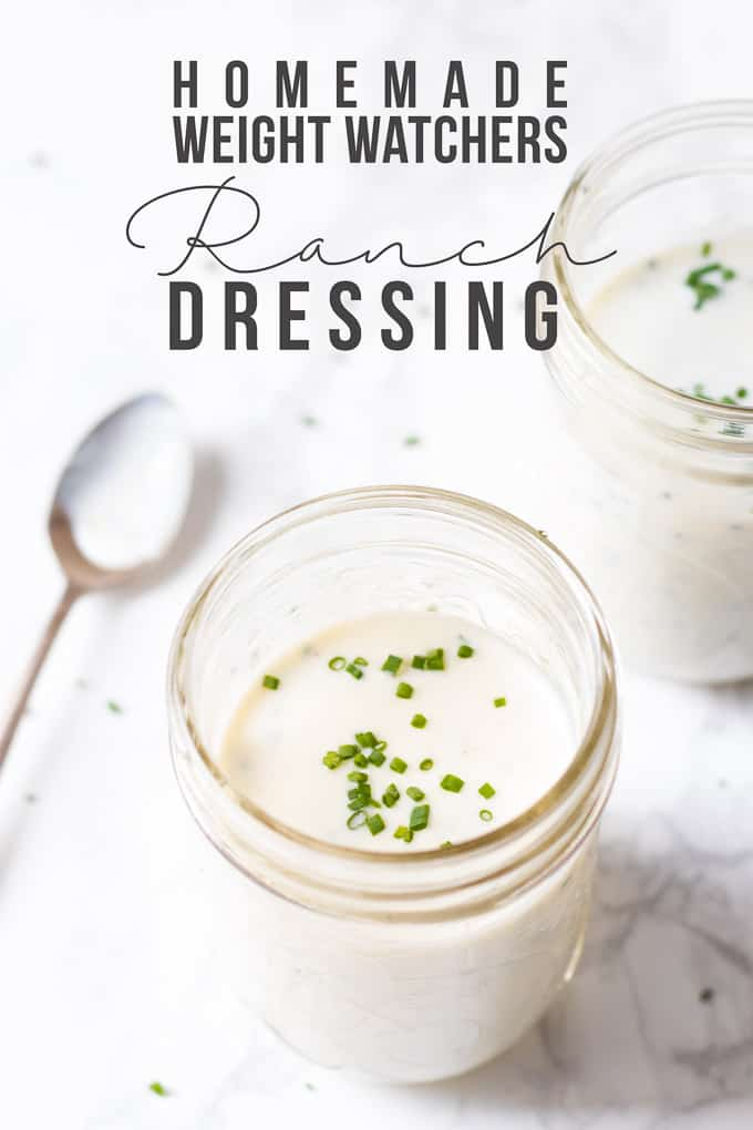 Home Made Weight Watchers Ranch Dressing