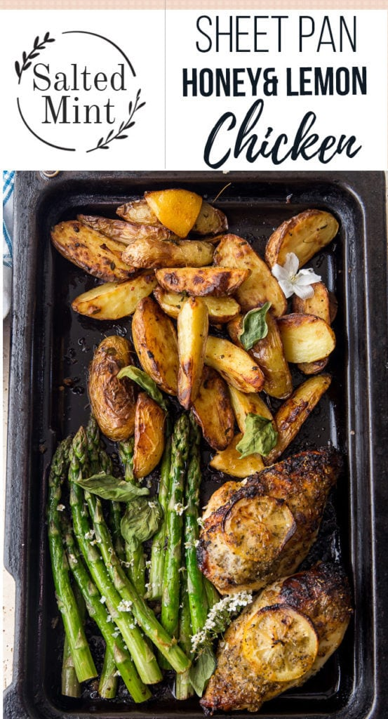 Sheet pan Chicken and asparagus top down