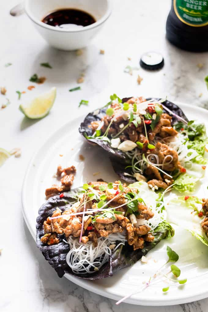 This healthy Asian lettuce wraps are protein packed and are the perfect mid week dinner.