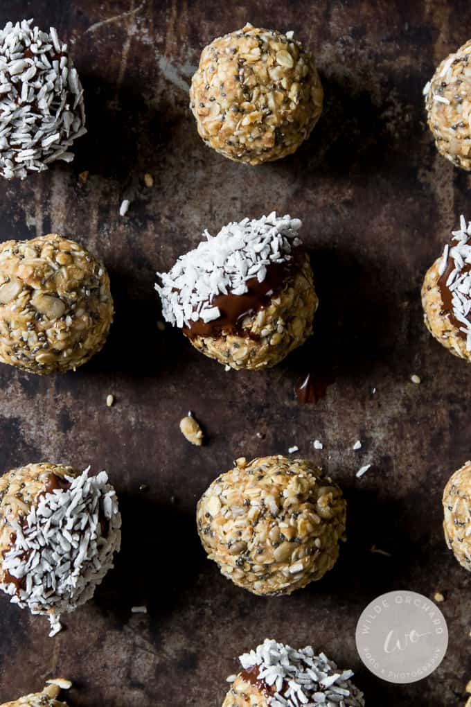 These no bake peanut butter energy bites are the fastest way to effortless snack time.