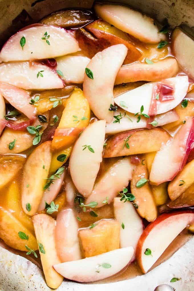 Lemon Thyme Peach Crisp