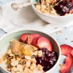 Almond Milk Blueberry Porridge With Juicy Plums