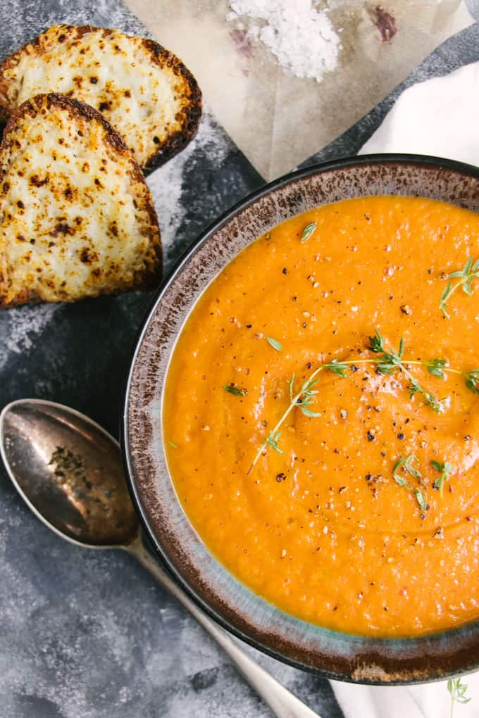 Late Harvest 4 Ingredient Roasted Tomato Soup