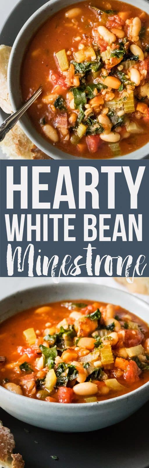 An original Italian minestrone stuffed with vegetables, beans and noodles. This soup is the perfect warmer. It's so healthy and easy to make it will be your new favorite in just one bite! #soup #fallrecipes #easyrecipe #healthydinner #healthyrecipe