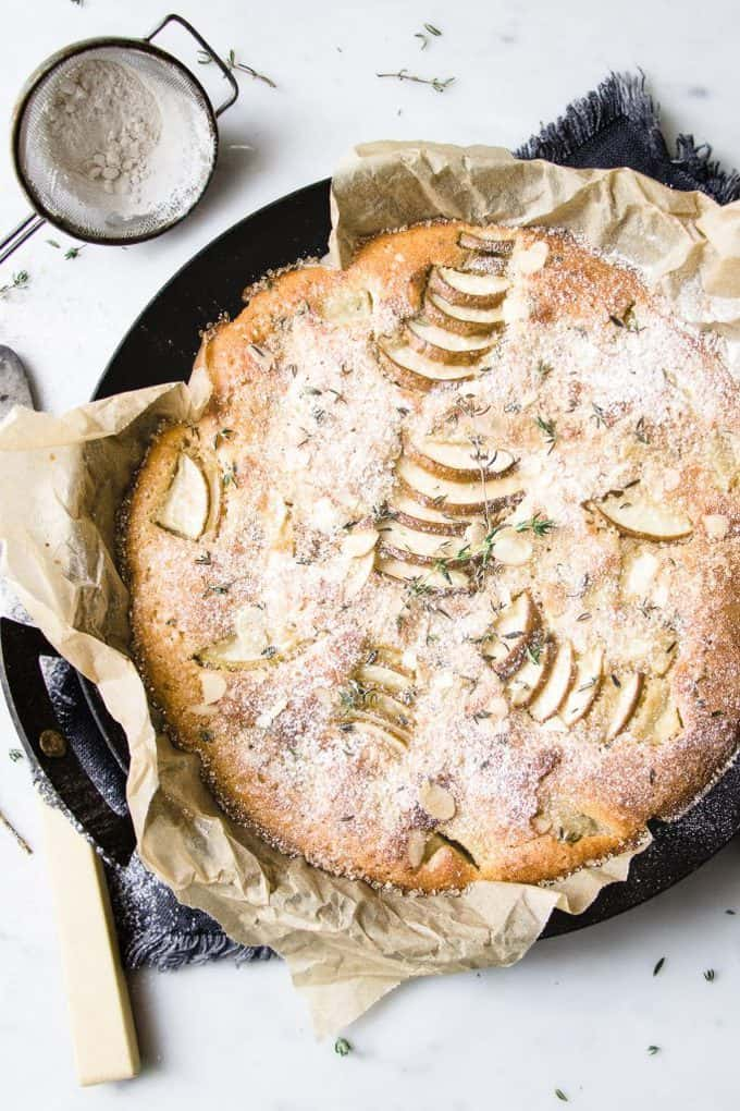 Pear Thyme and Gin Cake