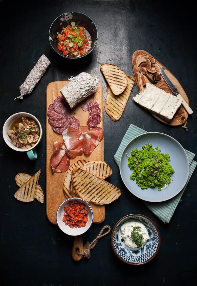 A tartine bar is a fun way to throw a casual party or to turn dinner into a simple casual affair.