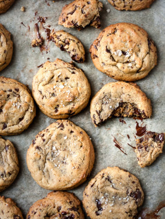Cardamom Chocolate Chip Cookies on a tray