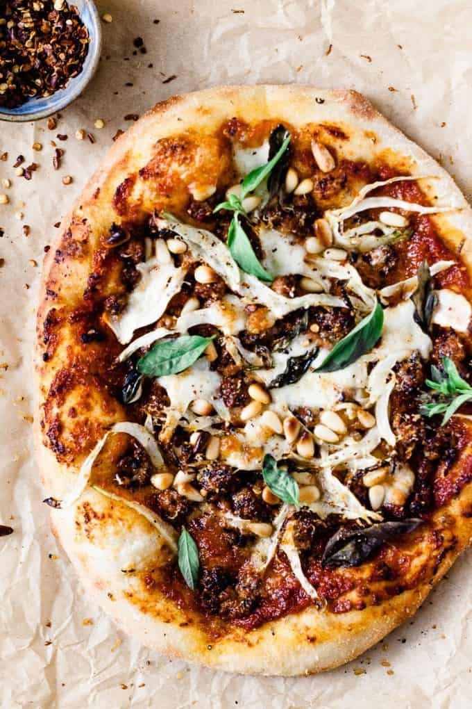 Spicy Chorizo and Fennel Pizza