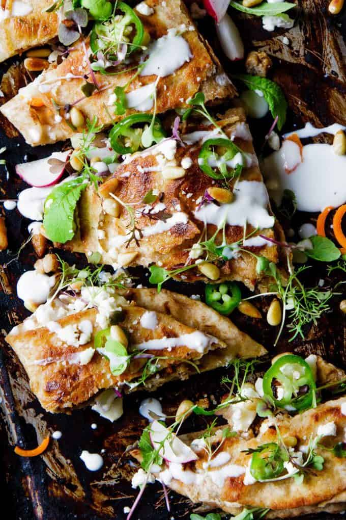 Turkey Carrot And Goat's Cheese Gozlemes