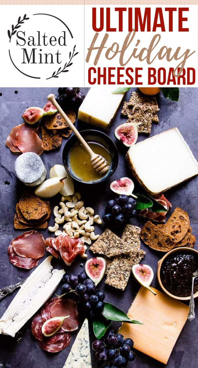 No Christmas is complete without the ultimate holiday cheeseboard. Cheese is best served on slate, marble or wood to ensure the cheese doesn't get too hot. These platters are as much about display and presentation as they are about flavor and texture. Grab the guide. #christmasrecipe #entertaining #easyrecipe