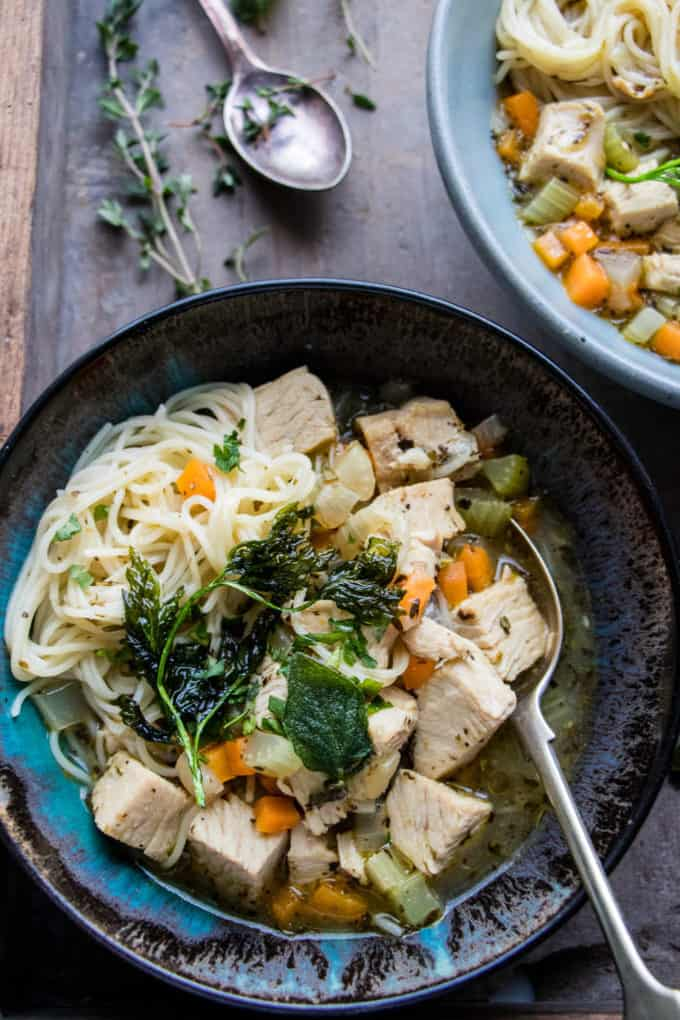 Italian Turkey and Vegetable Noodle Soup