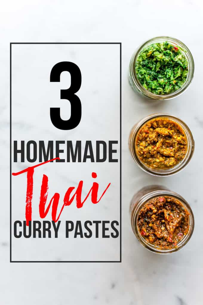 Homemade Thai Curry Paste with text overlay