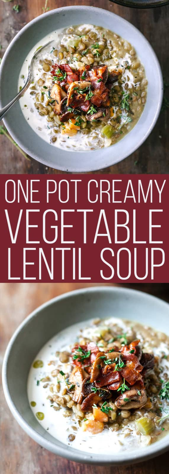 Creamy Vegetable Lentil Stew. One Pan, 20 minutes,  and perfect for freezing.  #soup #vegetables #onepot