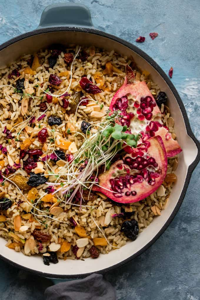 Nourishing One Pot Simple Moroccan Saffron Rice Pilaf