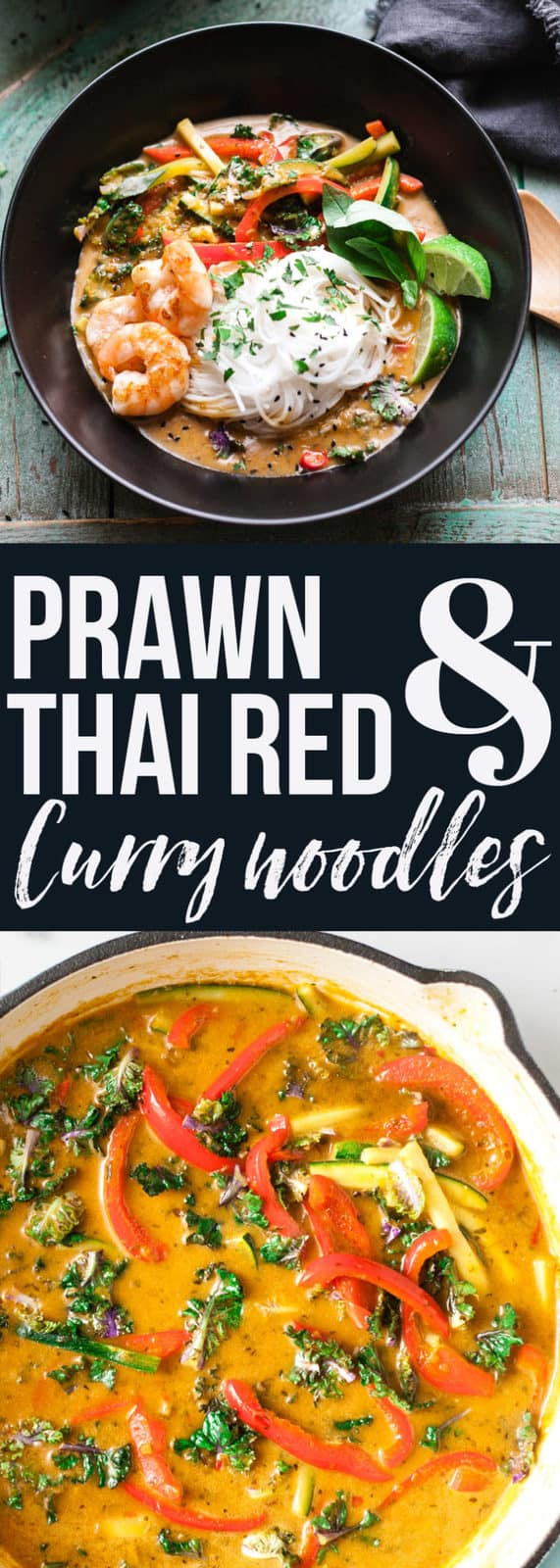 Easy 6 ingredient Thai red Curry Noodles. 15 Minutes to simple dinner perfection. #curry #noodles #Easydinner