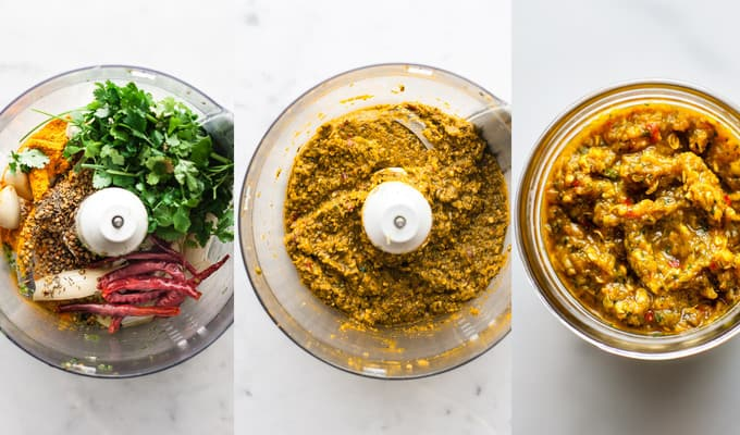 Homemade Thai yellow Curry Paste