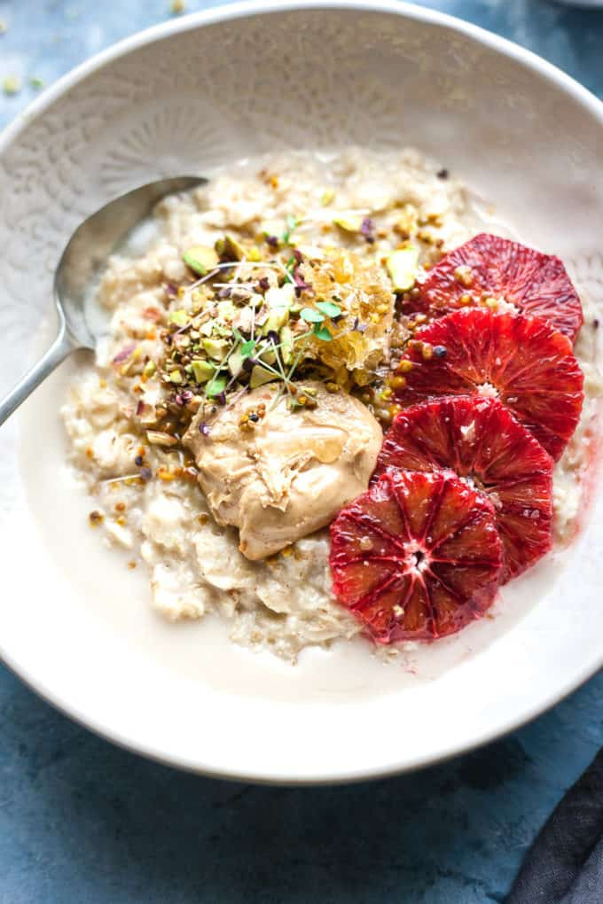 Winter Glow Breakfast Oatmeal Bowls