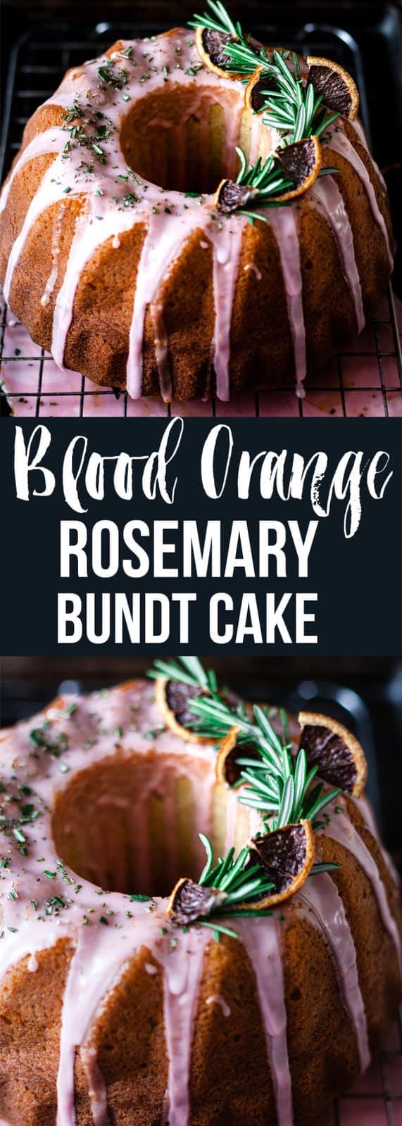 Blood orange rosemary bundt cake with buttermilk and poppy seeds. A healing winter cake. #cake #bundt #dessert #breakfast