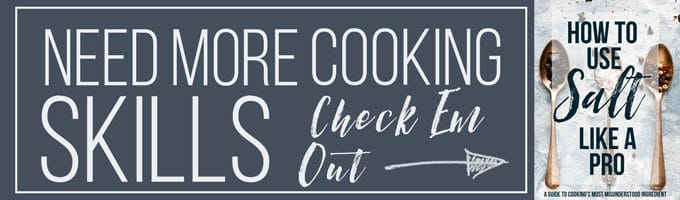 Cooking Skills text banner