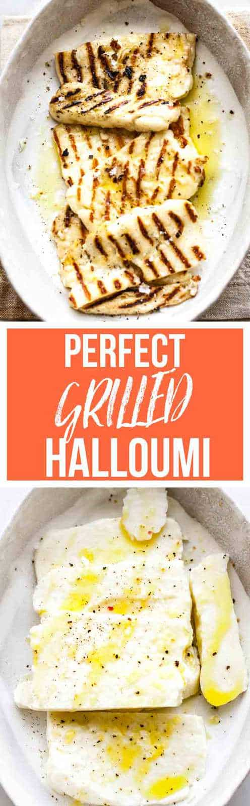 Grilled halloumi is a perfect meal helper. It's packed with protein, is low in fat is delicious with those grill marks of flavour. #vegetarian #halloumi #cleaneating #cheese