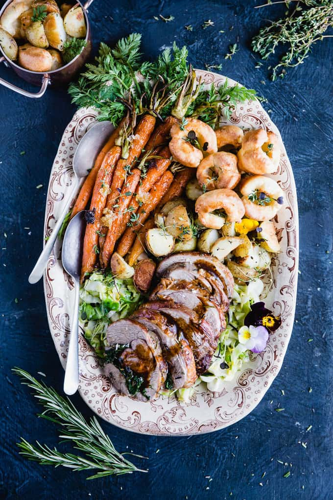 Roast leg of lamb for your Easter table. A stunning special occasion dinner that's simple and easy to make. #lamb #Easter #dinner #occasion