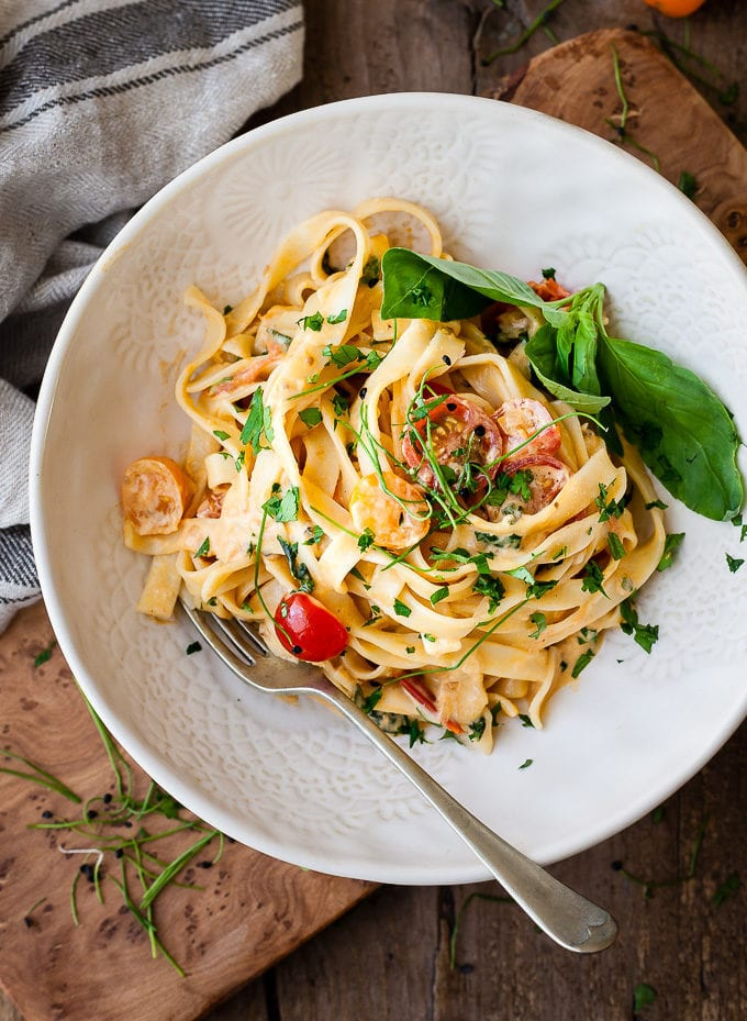 The Best 30 Minute Tuscan Creamy Tomato Pasta