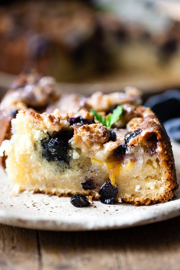 Nectarine Blueberry Coffee Cake
