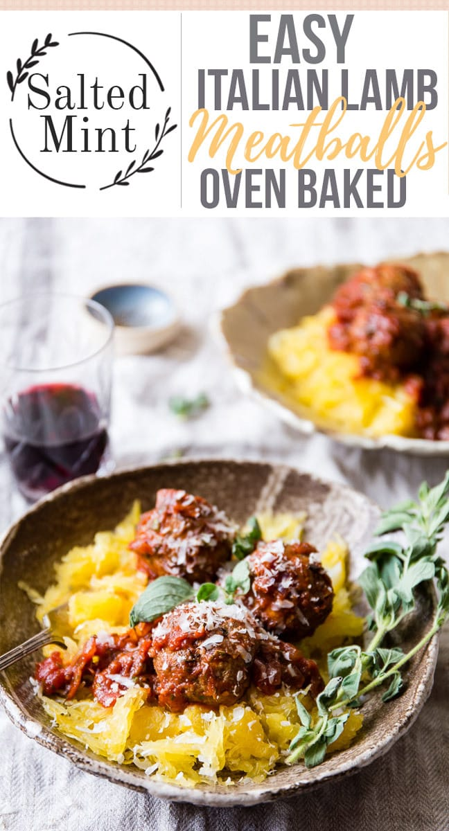 Classic Italian meatballs made healthier because they're baked. Plump, juicy and perfectly spiced with oregano, basil and parsley, these easy meatballs are the perfect dinner tonight. They're quick to make, they're oven-baked making them healthier and easier to cook and they are perfect in any tomato sauce you have. #easyrecipe #fallrecipe #easydinner #pasta