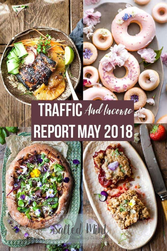 Food blog traffic and income report for May 2018. A blogging 101 of how we're making an income and growing our blog from scratch. #blogging #income #entrepreneur