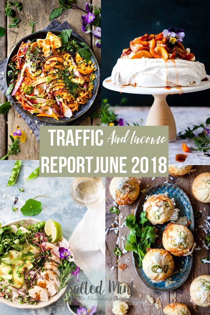 Food Blog Traffic and Income Report June 2018