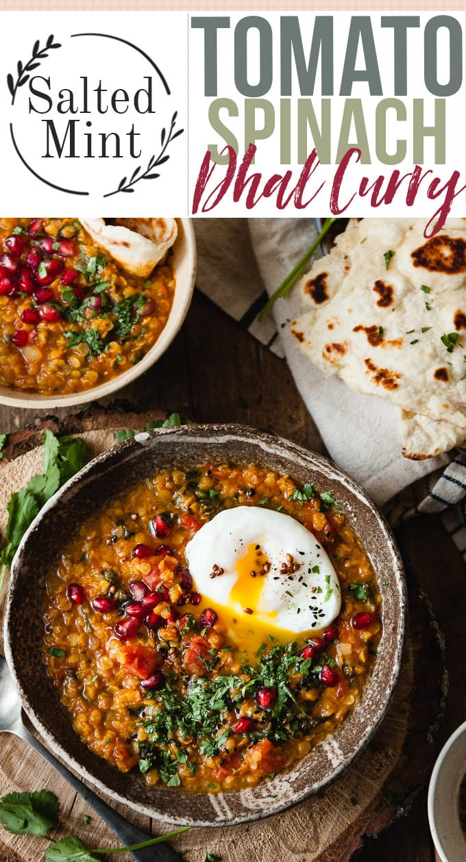 Spinach And Tomato Dhal Curry