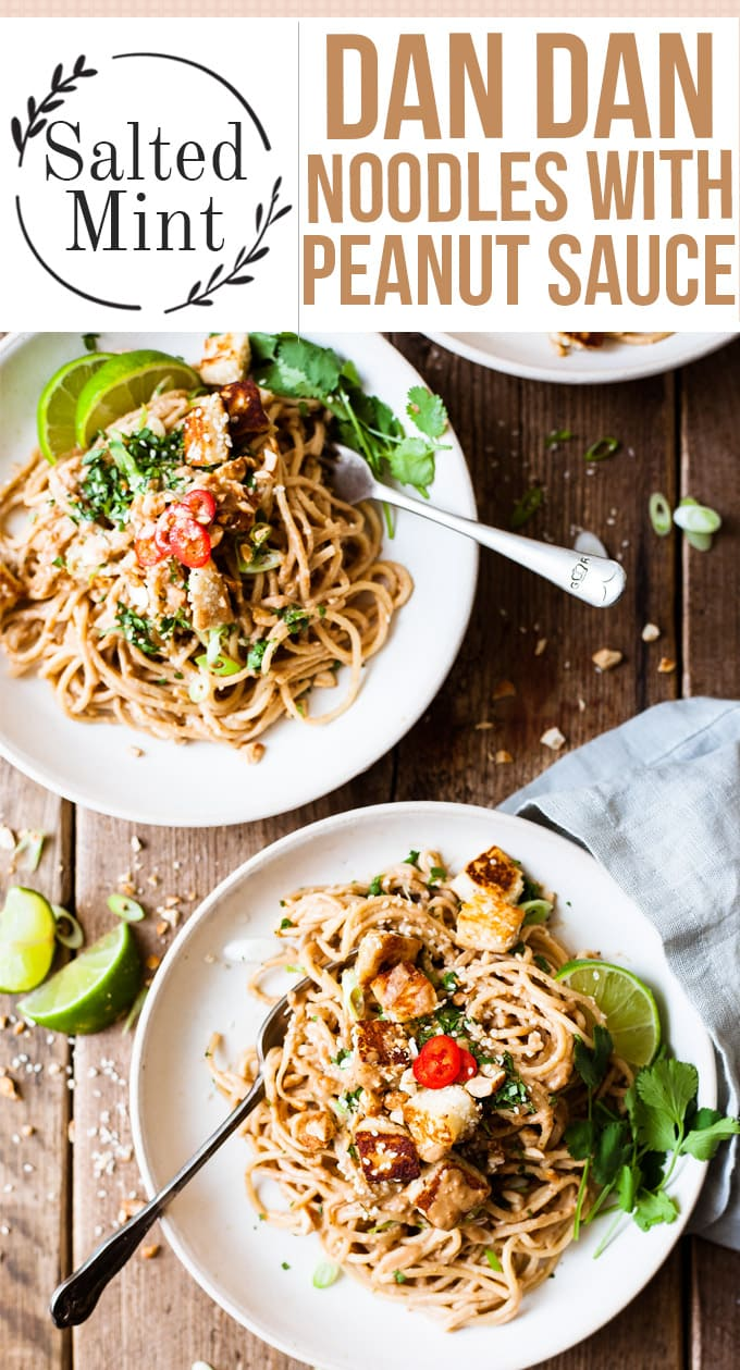 two bowls on a table with Szechuan noodles